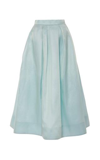 Medium monique lhuillier blue mint sparkle gazar full pleated skirt