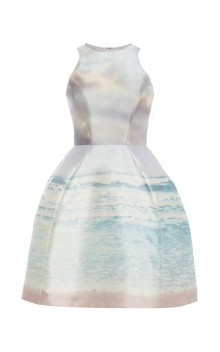 Medium monique lhuillier multi luminous sunrise printed structured dress