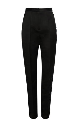 Medium alexander wang black referee high waisted tailored pant with snap placket detail