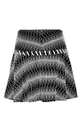 Medium thakoon addition black cotton tweed full skirt