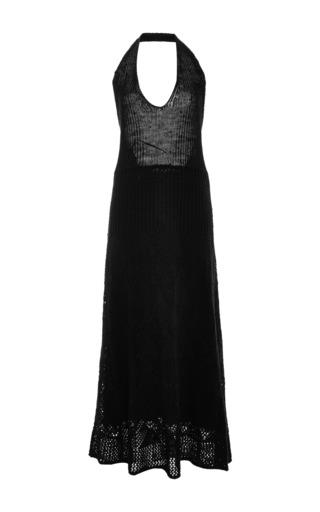 Medium thakoon addition black black knit v front maxi dress