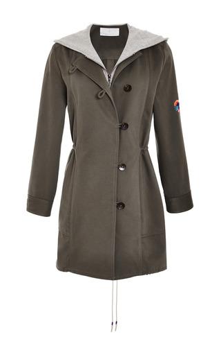 Medium thakoon addition green army hooded combo jacket