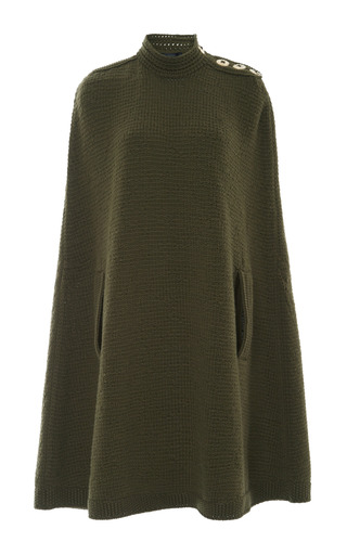 Medium marc jacobs green military green long cape