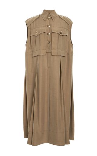 Medium marc jacobs gold golid silk shantung sleeveless military dress 2