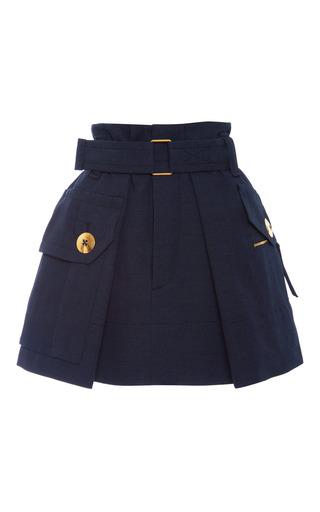 Medium marc jacobs black black melange suiting two pocket skirt