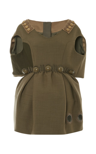 Medium marc jacobs olive olive dress with capelet top