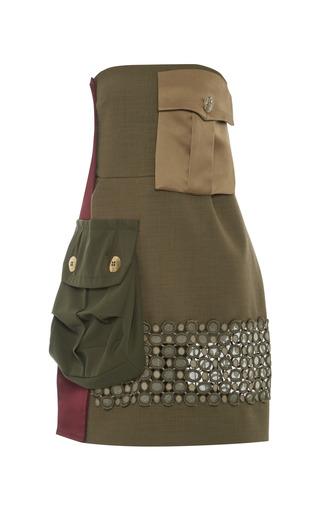Medium marc jacobs olive olive strapless two pocket dress