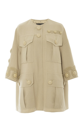Stone Wool Crepe Four Pocket Dress by MARC JACOBS Now Available on Moda Operandi