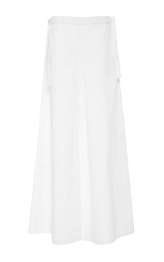 Medium rosie assoulin white bikini pant in light cotton poplin