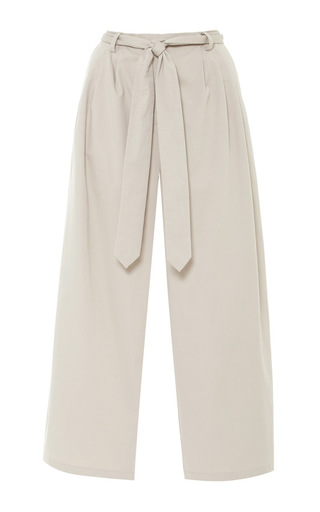 Medium rosie assoulin brown rosie assoulin cotton twill cropped lindbergh pant