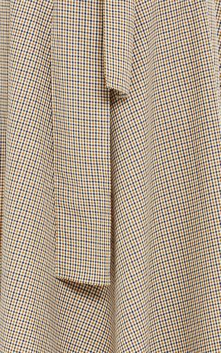 Butterworth Silk Merino Check Transformer Skirt