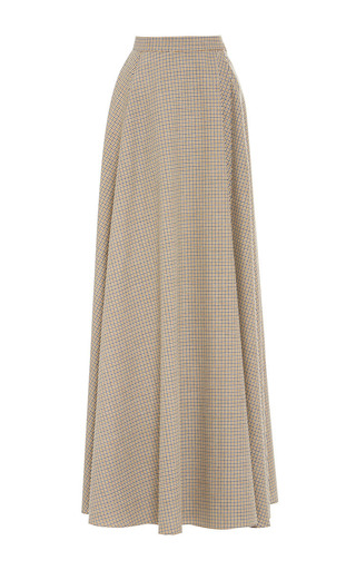 Medium rosie assoulin multi butterworth silk merino check transformer skirt