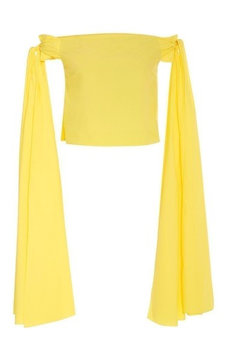 Medium rosie assoulin yellow helicopter top in pineapple