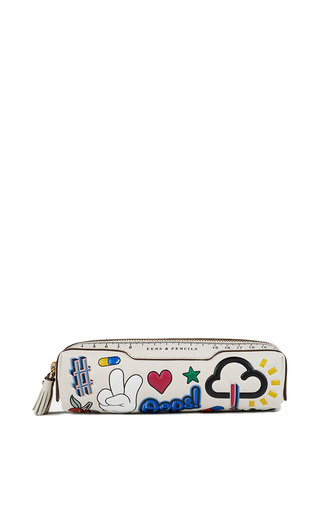 Medium anya hindmarch multi stickered up pencil case