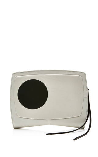 Medium narciso rodriguez black stone gia clutch with sphere