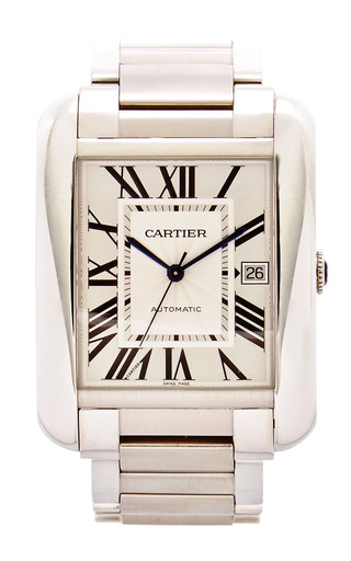 Medium portero metalic vintage cartier stainless steel tank anglaise extra large watch from portero