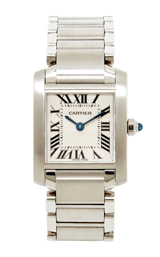 b484c723e418 Vintage Stainless Steel Cartier Tank Francaise Wristwatch From Doyle    Doyle by Doyle   Doyle