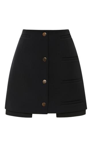 Medium opening ceremony black rory coated neoprene welt mini skirt in black