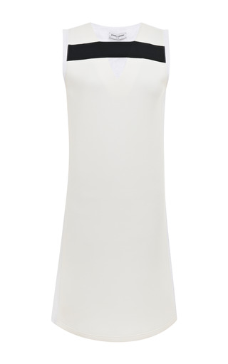 Medium opening ceremony white jersey poplin combo sleeveless dress