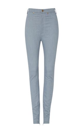 Light Blue Denim Pants by RODARTE Now Available on Moda Operandi