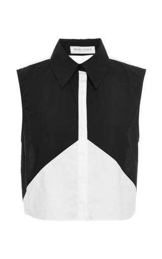 Medium tanya taylor white black betty cotton top