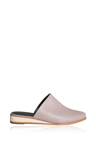 Medium tibi purple kirsi slippers in lavender nappa leather
