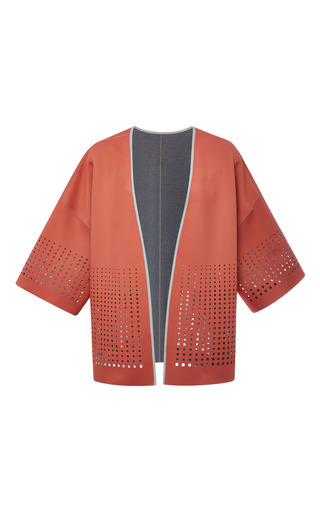 Medium clover canyon dark grey blush laser neoprene jacket