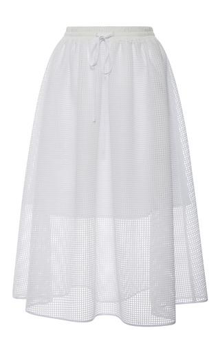 Medium clover canyon white white square mesh skirt