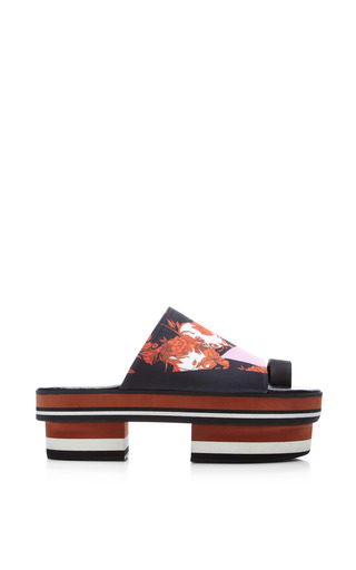 Medium clover canyon multi secret garden platform sandals in black multi