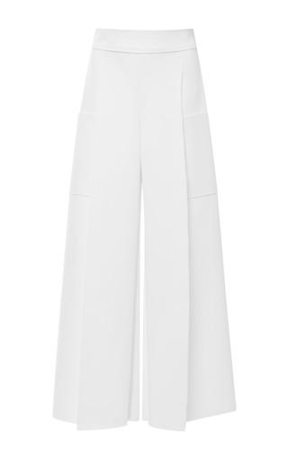 Medium carolina herrera white techno jersey cargo pant in white