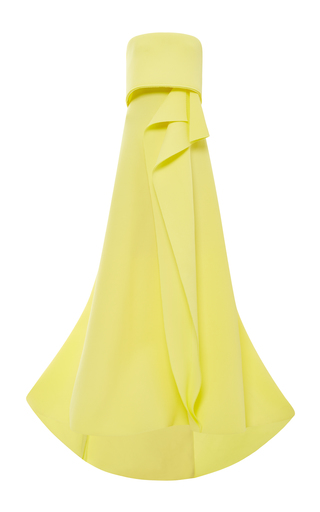 Medium carolina herrera yellow techno pique strapless gown in sun