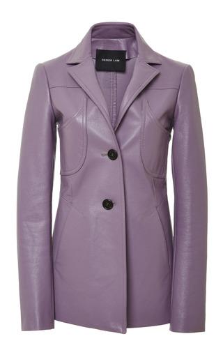 Medium derek lam purple bonded leather seamed blazer