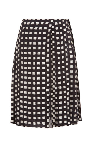 Medium proenza schouler multi black and white all over fil coupe pleated skirt