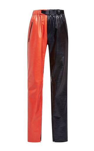 Medium proenza schouler multi orange and black paper leather straight pant