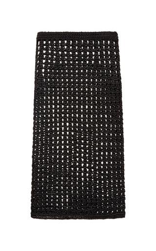 Medium proenza schouler black black open crochet knit pencil skirt