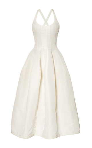 Medium brock white ivory silk faille daphne dress