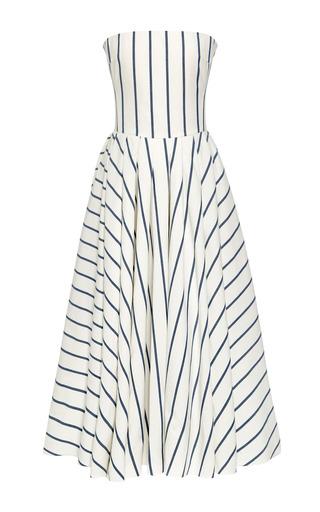 Medium brock blue denim stripe dandelion dress