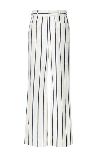 Medium brock multi denim stripe talara trousers