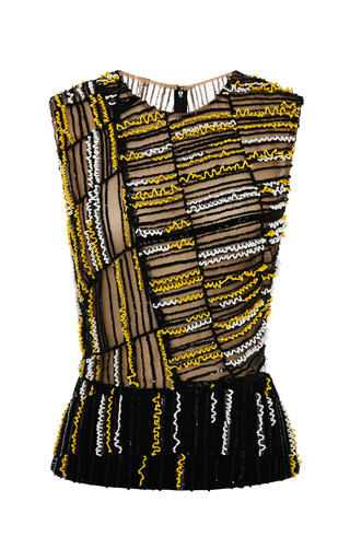 Medium j mendel multi central park embroidery sleeveless top