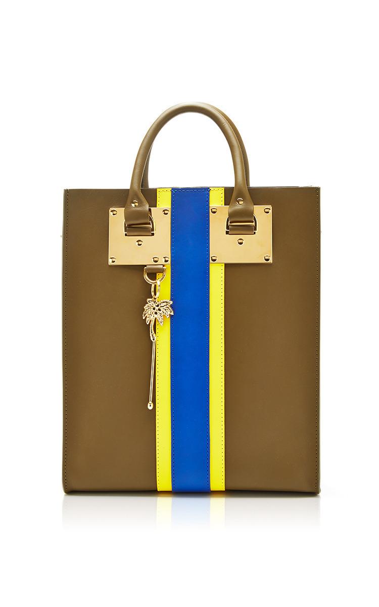 Mini Tote Bag In Khaki Multi By Sophie Hulme Moda Operandi