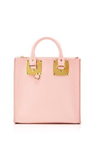 Medium sophie hulme pink square tote bag in pink