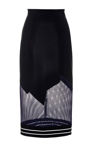 Medium jonathan simkhai black breakaway mesh pencil skirt