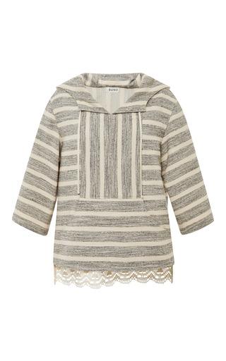 Medium suno stripe black and tan stripe baja pullover