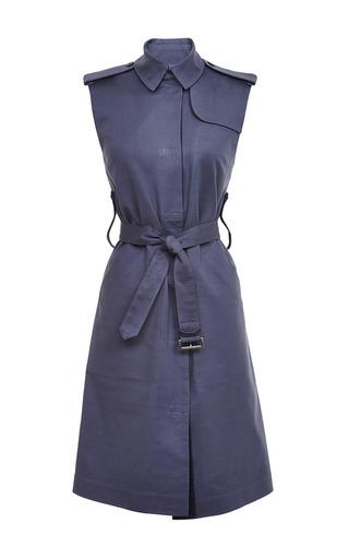 Medium ostwald helgason blue blue sleeveless trench coat