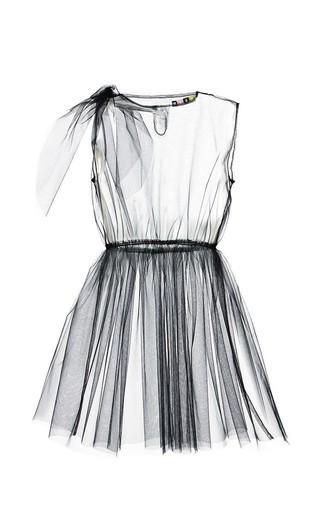 Medium msgm black black tulle sleeveless dress overlay 2