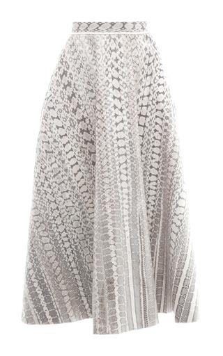 Medium salvatore ferragamo multi radiata snakeskin skirt