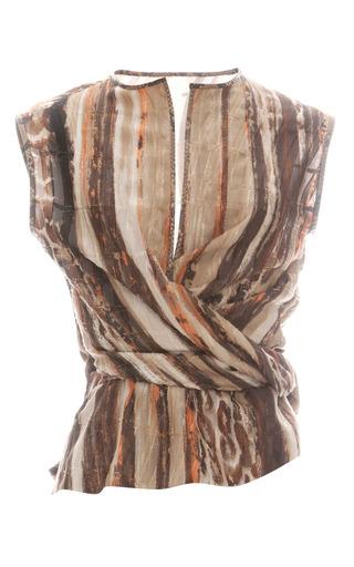 Medium salvatore ferragamo print ocelot fil coupe blouse