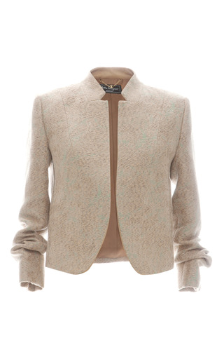 Medium salvatore ferragamo multi linen jacquard jacket