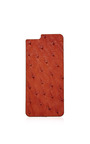 Cognac Ostrich Iphone 6 Leather Back by VALENTINE GOODS Now Available on Moda Operandi