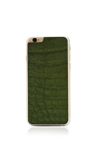 Medium valentine goods green hunter green crocodile iphone 6 leather back